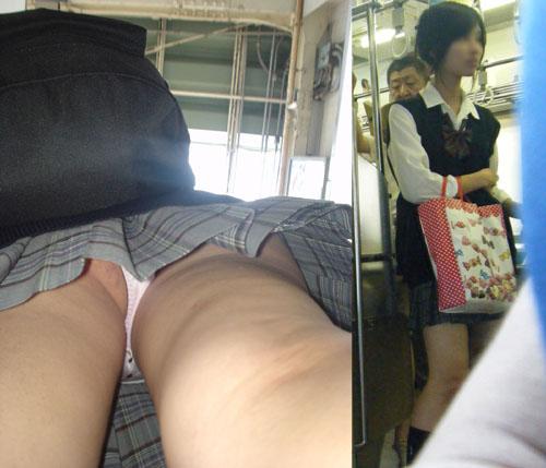 【JKパンチラ盗撮エロ画像】女子校生は期待通りに可愛いパンティーを履いてるので嬉しい限りwww