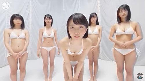 360度全方向からビキニ姿のミスマガジンベスト16全員に囲まれて自己紹介されるハーレム状態のVR動画