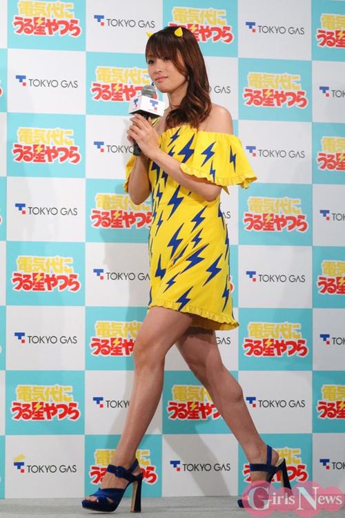 深田恭子(36)がラムちゃんの衣装でCM発表会に出てた件