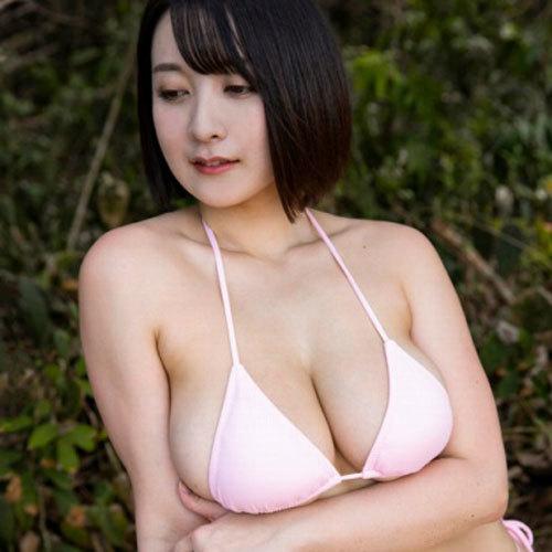紺野栞 Fカップのおっぱいが水着からハミ出てエロいことになっちゃってる
