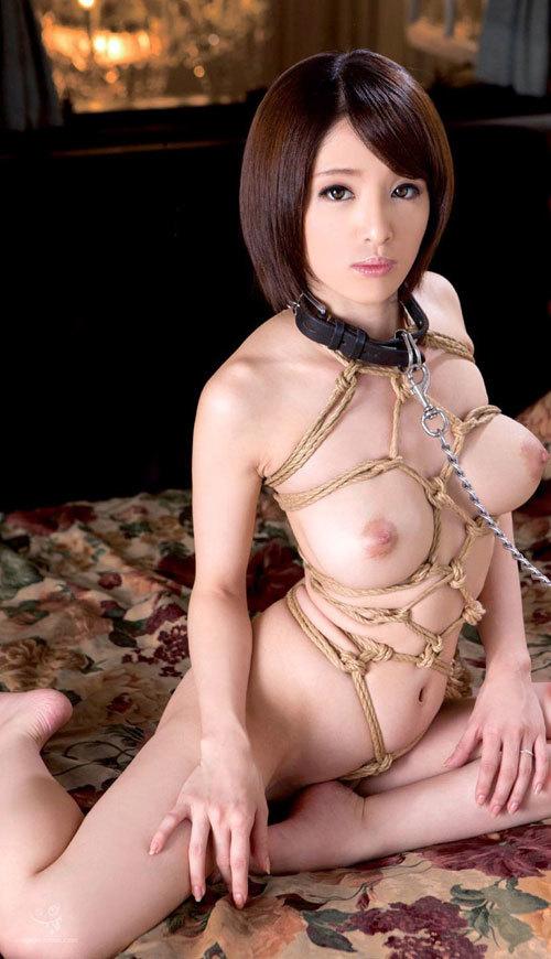 おっぱい丸出しで首輪をされたM嬢を調教しよ13