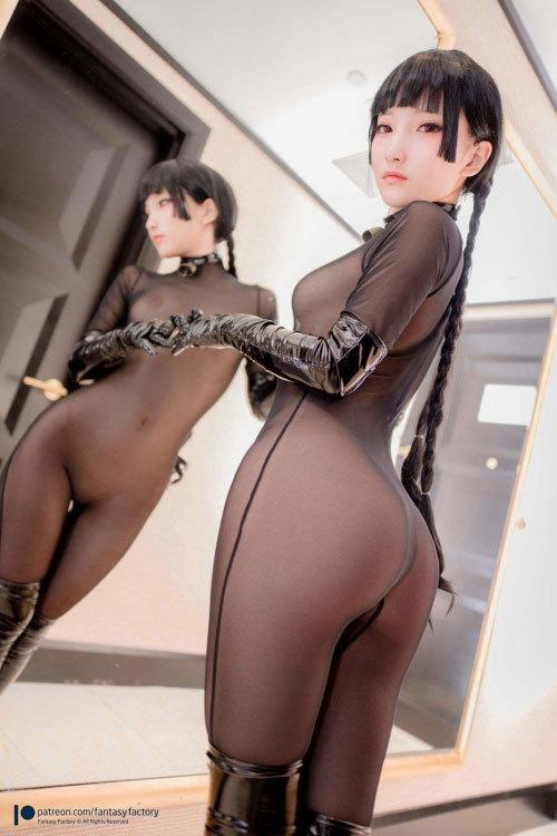 台湾の美人コスプレイヤー「小丁こまち」えちえちな下着のバニーガールで、無修正パイパンマ○コくぱぁ♪と見せつける画像公開!画像110枚