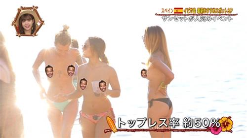 TBSさん、年末にトップレス美女ばかりのヌーディストビーチ特集をしてしまうwwww(※画像あり)
