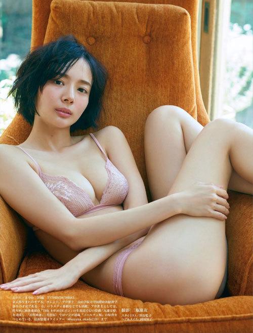 岡田紗佳モデルでプロ雀士Gカップのおっぱい79