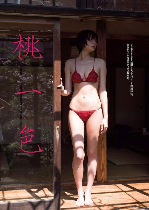 岡田紗佳モデルでプロ雀士Gカップのおっぱい83