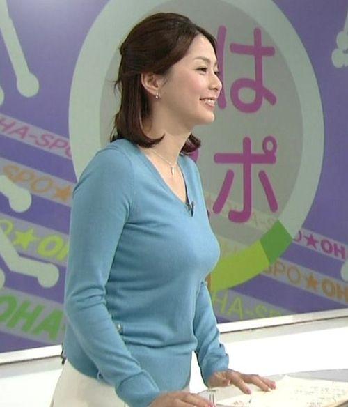 巨乳女子アナはTV見逃せない!★エロ画像49枚