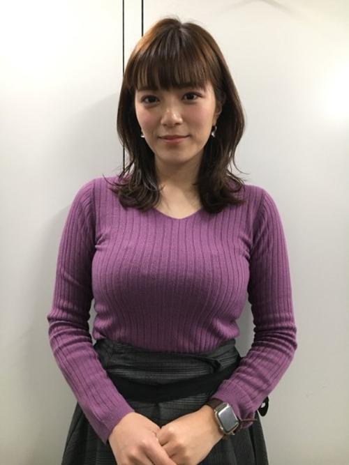 【悲報】爆乳女子アナさん、とんでもない服を着るwwww(画像あり)