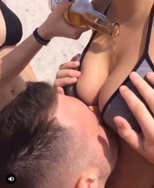 【エロ画像】挑戦シリーズの「おっぱいビール」これはイイわぁーwwwwww