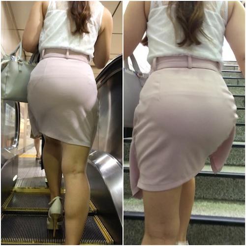 薄いスカートは透けパン狙え★エロ画像50枚