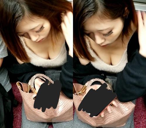胸元の隙間にカメラが侵入★エロ画像49枚