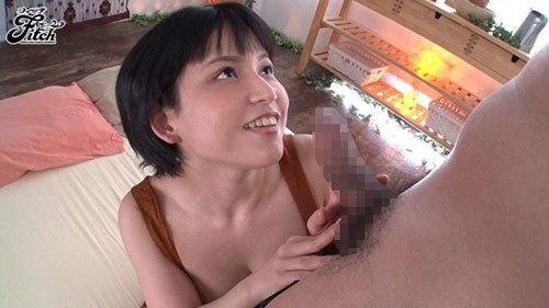 ボーイッシュ美少女着エロアイドルあみちゃん AV解禁!! むっちりFcupボディでデカマラ喰い3本番3