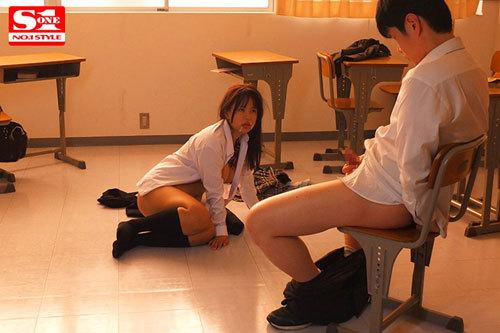 ボクを助けてくれた生徒会長の夕美さんが犯●れているのを見て鬱勃起。 夕美しおん10