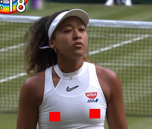 大坂なおみ、エロ過ぎる乳首ぽっちで完全に浮き上がっている!これが実力派テニス選手のエロ乳首!