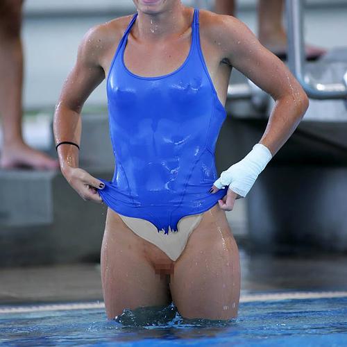 【画像】競技に集中しすぎた女子アスリートのエ□ハプニング大胆すぎない?wwwww