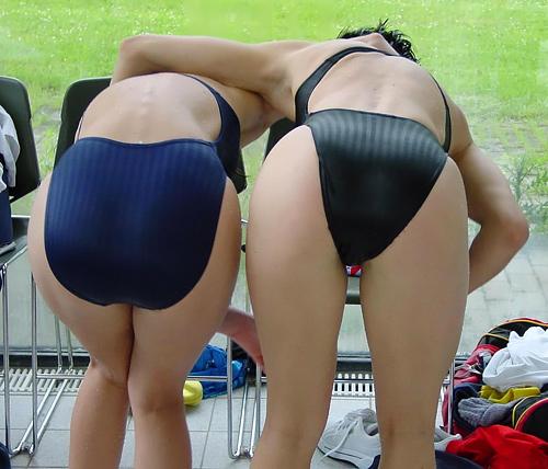 素人の競泳水着のお尻画像48枚!リアルな水泳部の女子たちのお尻はコチラ