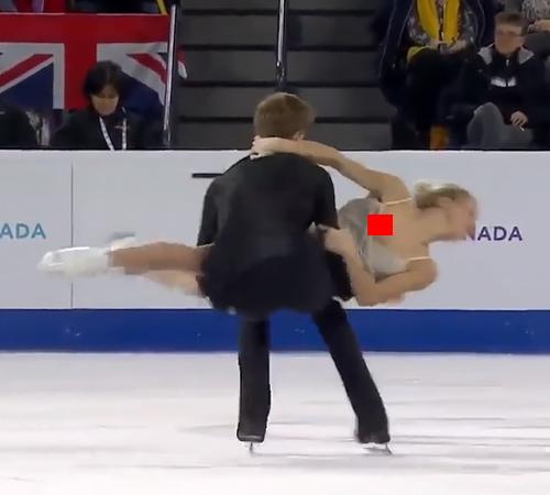 ロシアの美人アイスダンス選手、完全に乳首出しっぱなし放送事故wwwww