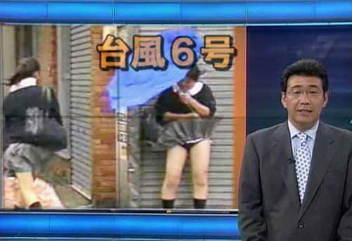 台風エ□画像!!濡れ透け下着にパ●チラなどの120枚