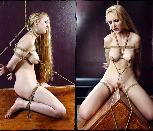 【調教】三角木馬で本気の拷問されてる女さんをご覧ください…これは痛すぎる(画像あり)