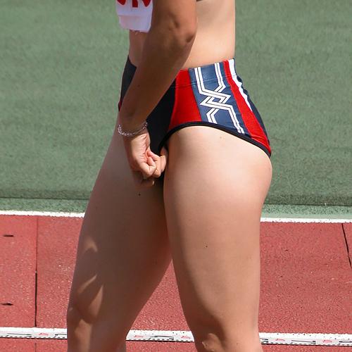 【スポーツエ□画像】女子陸上選手をオカズ目的で撮影…引き締まるボディが強烈にエ●チで抜けるwww