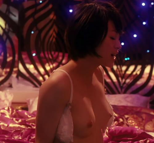 『今日から俺は!!』の理子役の女優さん、清野菜名のオッパイヌードシーンのセクシーGIFwww