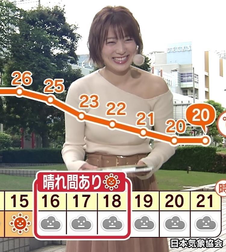 阿部華也子 おっぱいがエロ過ぎなのに肩まで露出しているキャプ・エロ画像6