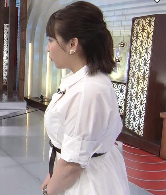 相内優香アナ 爆乳横乳キャプ・エロ画像2