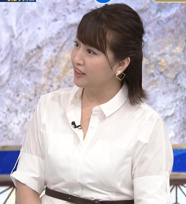 相内優香アナ 爆乳横乳キャプ・エロ画像3