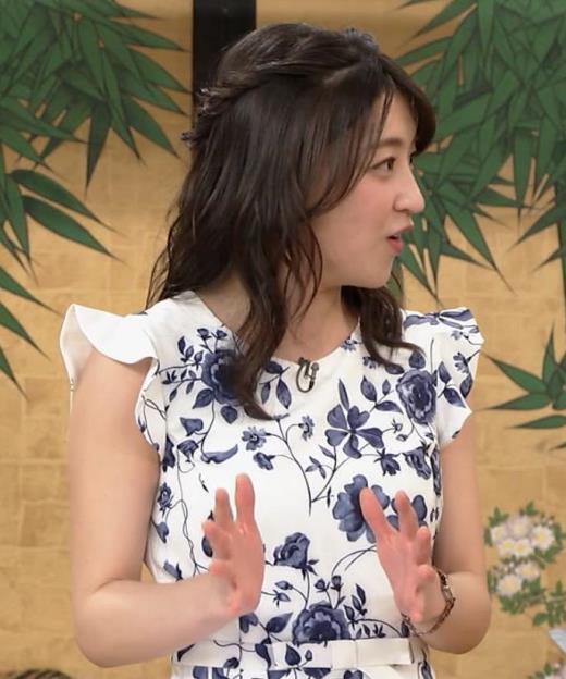 赤木野々花アナ 花柄ワンピースキャプ画像(エロ・アイコラ画像)