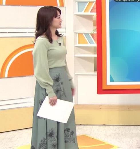 新井恵理那アナ エロい横乳キャプ・エロ画像