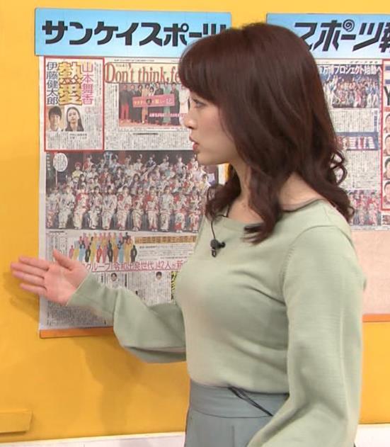 新井恵理那アナ エロい横乳キャプ・エロ画像2