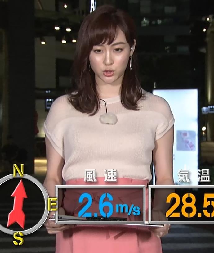 新井恵理那 半袖ニットキャプ・エロ画像6
