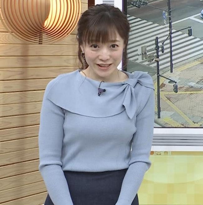 江藤愛アナ 胸のふくらみキャプ・エロ画像