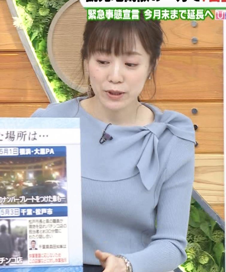 江藤愛アナ 胸のふくらみキャプ・エロ画像4