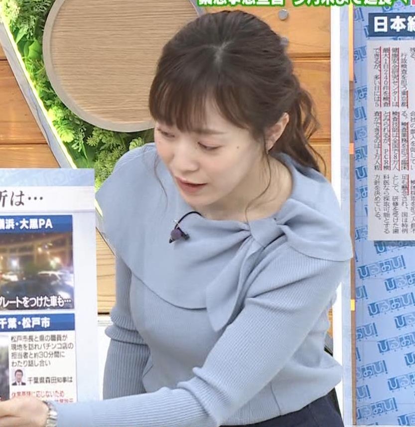 江藤愛アナ 胸のふくらみキャプ・エロ画像5