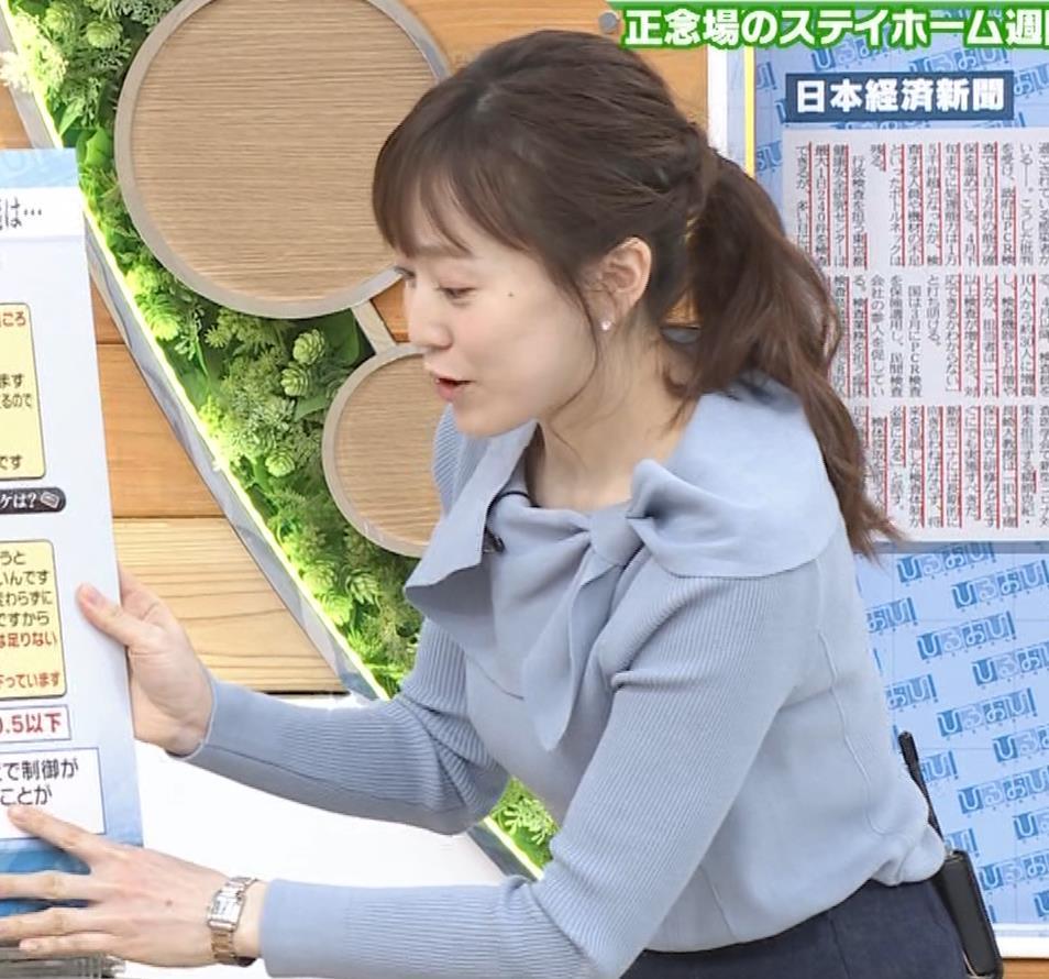 江藤愛アナ 胸のふくらみキャプ・エロ画像6
