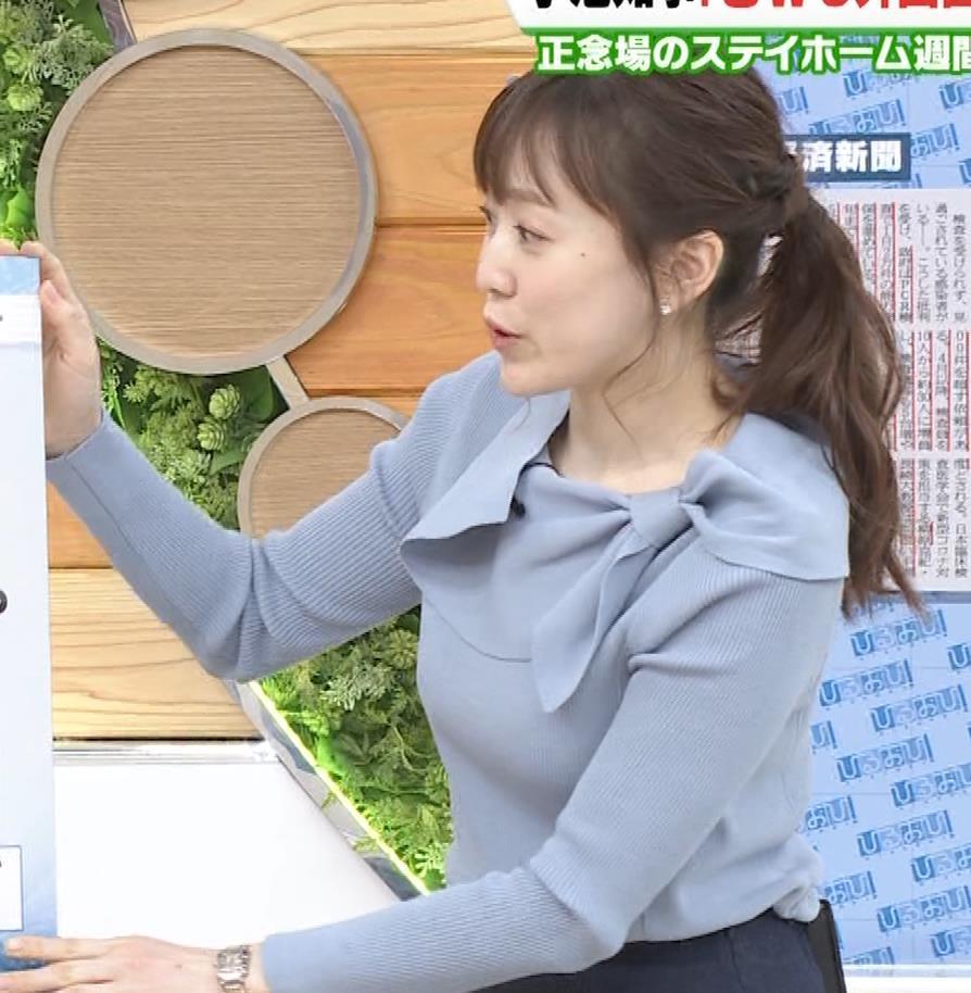 江藤愛アナ 胸のふくらみキャプ・エロ画像7