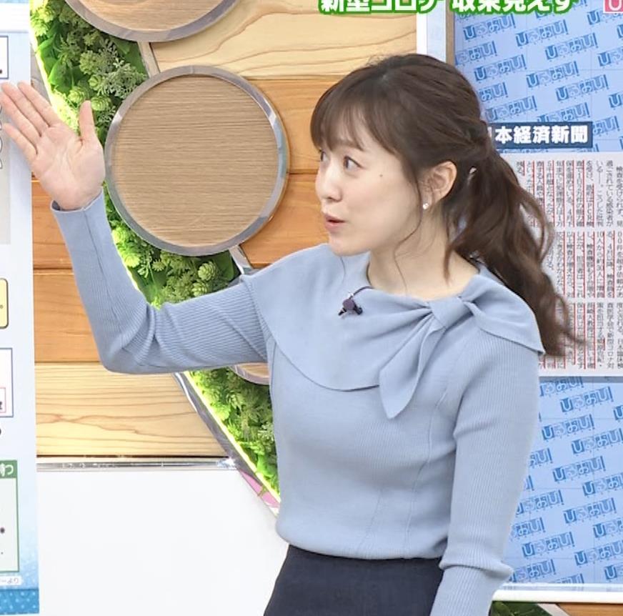 江藤愛アナ 胸のふくらみキャプ・エロ画像8
