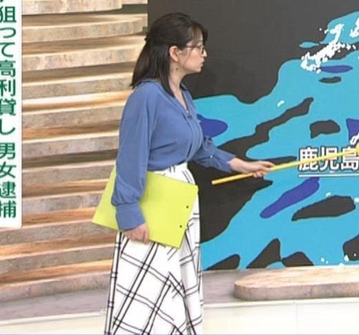 福岡良子 巨乳気象予報士キャプ画像(エロ・アイコラ画像)