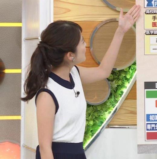 日比麻音子アナ ノースリーブの横乳とかキャプ画像(エロ・アイコラ画像)