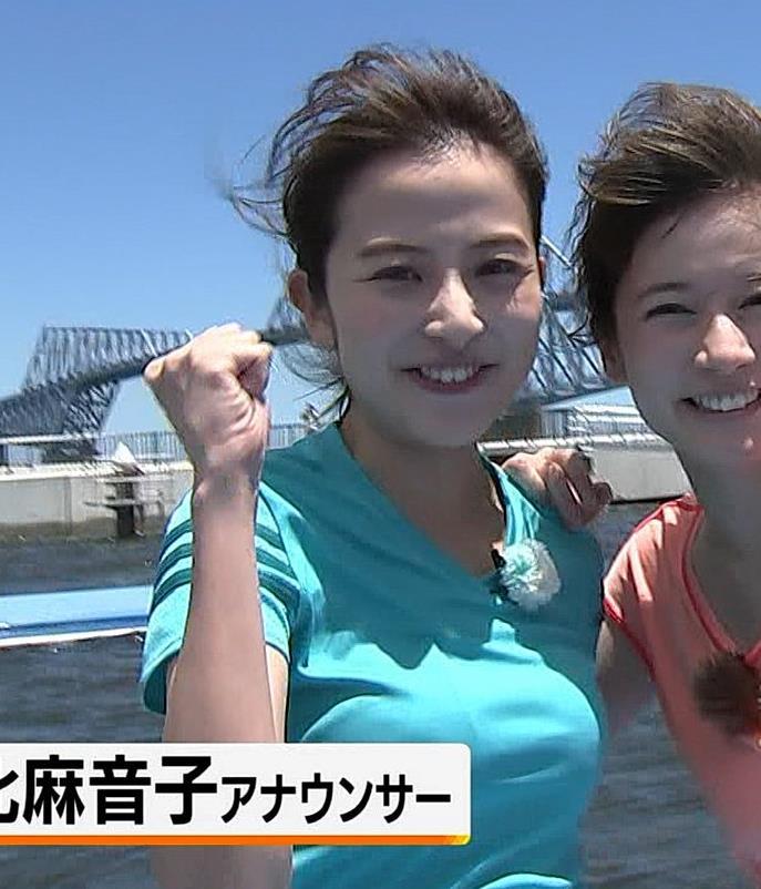 日比麻音子アナ Tシャツおっぱいキャプ・エロ画像2