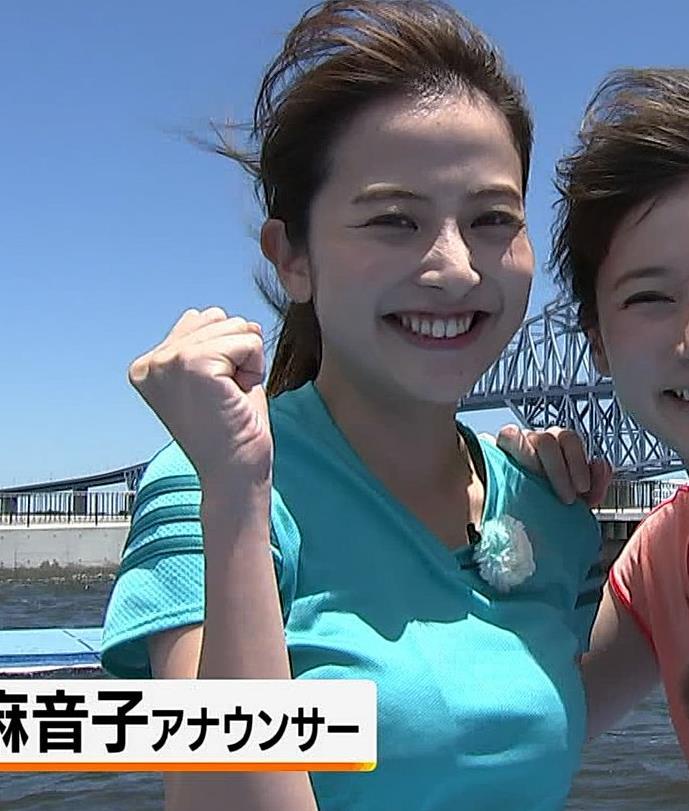 日比麻音子アナ Tシャツおっぱいキャプ・エロ画像3