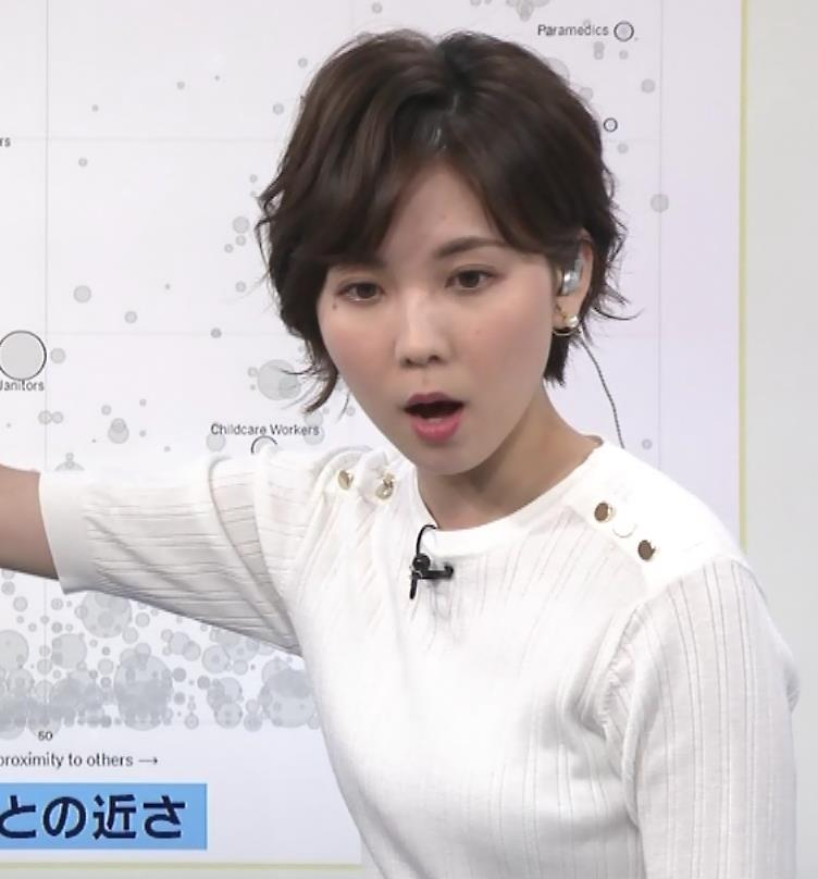 ヒロド歩美アナ ニットちっぱいキャプ・エロ画像5