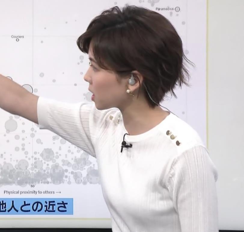 ヒロド歩美アナ ニットちっぱいキャプ・エロ画像6