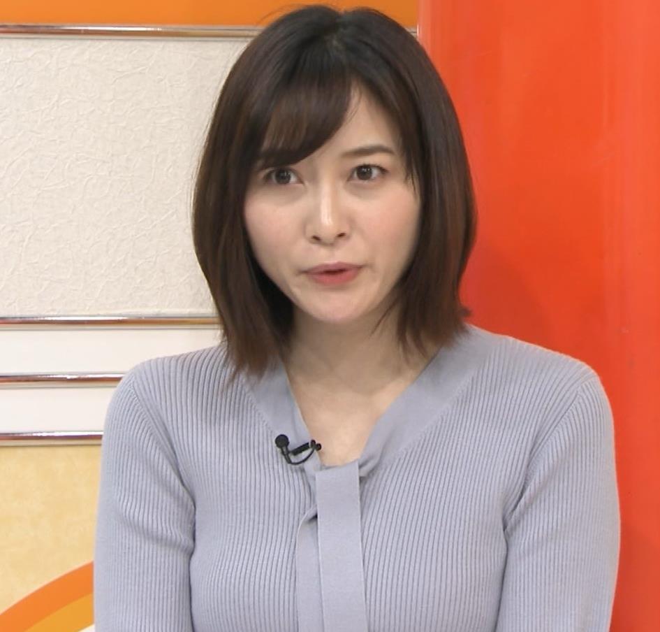 久冨慶子アナ 胸がエロいニットキャプ・エロ画像11