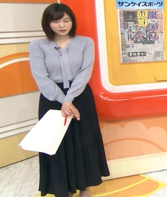 久冨慶子アナ 胸がエロいニットキャプ・エロ画像12