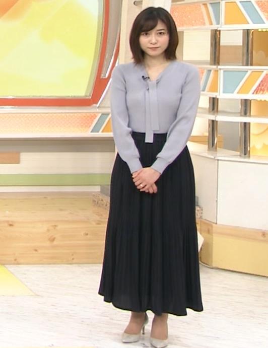 久冨慶子アナ 胸がエロいニットキャプ・エロ画像4