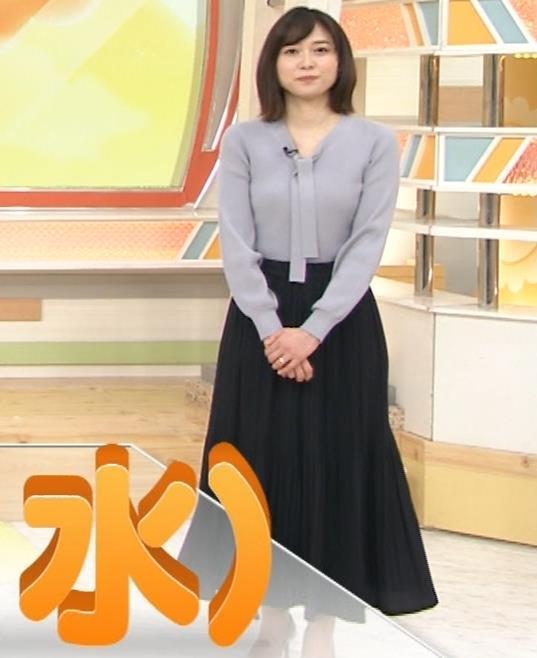 久冨慶子アナ 胸がエロいニットキャプ・エロ画像6
