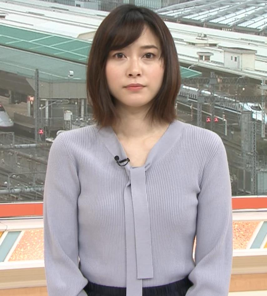 久冨慶子アナ 胸がエロいニットキャプ・エロ画像7