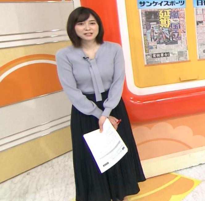 久冨慶子アナ 胸がエロいニットキャプ・エロ画像8