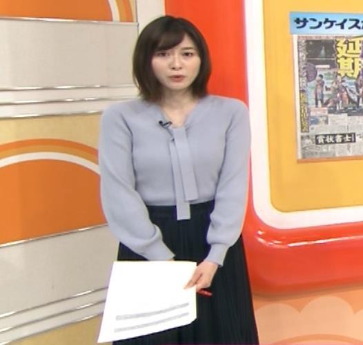 久冨慶子アナ 胸がエロいニットキャプ・エロ画像9